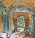 the foyer of the saint pauls hospital, saint remy