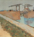the langloiss bridge with road along the canal, arles