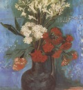 vase with carnations and other flowers, paris
