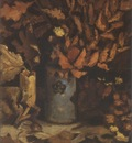 vase with dried leaves, nuenen