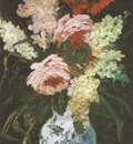 vase with gladioli and lilac, paris