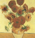 vase with sunflowers, arles