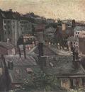 view of the roofs of paris, paris