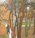 walk, falling leaves, saint remy