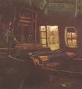 weaver, inside with three small windows, nuenen