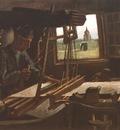 weaver, near a open windows, nuenen