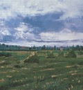 wheat fields with beams, arles