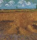 wheatfield with sheaves, arles