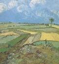 wheatfields with scattered clouds, auvers sur oise