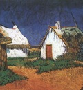 white cottages at saintes maries, arles