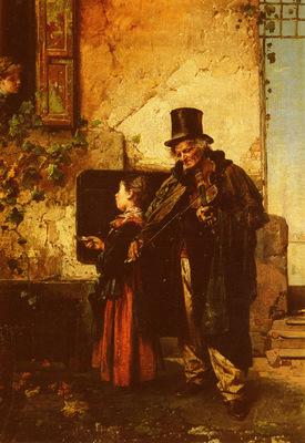 Induno Domenico The Old Musician