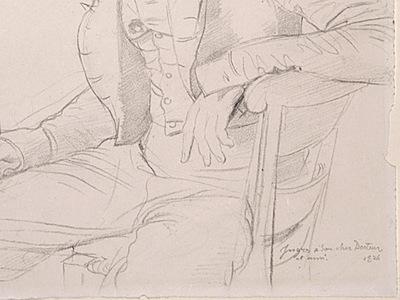 Ingres Dr  Louis Martinet 1826 detail2