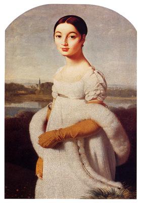 Ingres Jean Auguste Dominique Portrait Of Mademoiselle Caroline Riviere