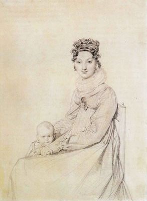 Ingres Madame Alexandre Lethiere born Rosa Meli and her daughter Letizia
