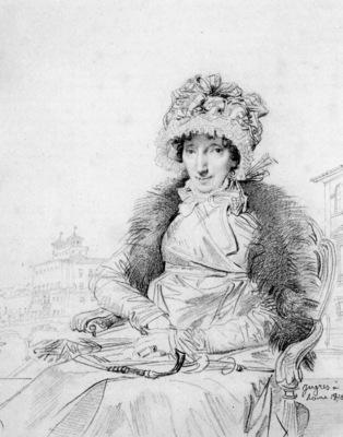 Ingres Mrs  John Mackie born Dorothea Sophia de Champs