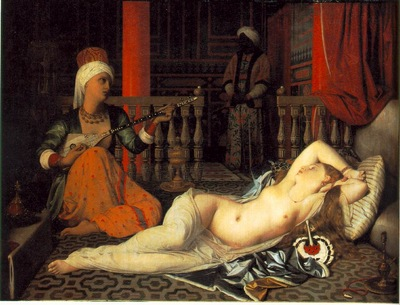 Ingres Odalisque with a slave, 1840, Fogg Art Museum, Harvar