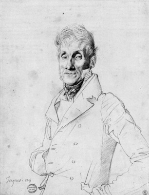 Ingres Portrait of a Man possibly Edme Bochet