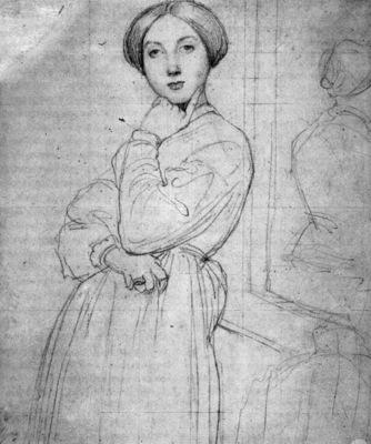 Ingres Study for Vicomtesse d Haussonville born Louise Albertine de Broglie