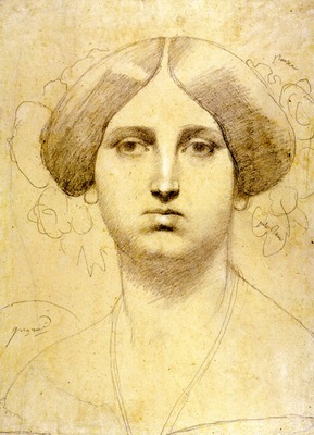 Ingres Study of Baronne James de Rothschild born Betty von Rothschild