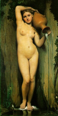 Ingres The source, 1856, 163x80 cm, Musee dOrsay, Paris