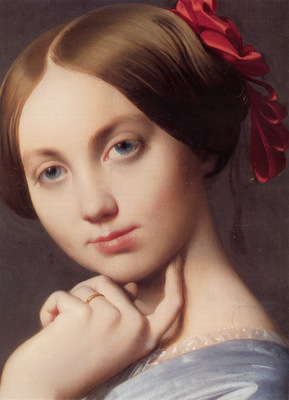 Ingres Vicomtesse Othenin d Haussonville detail