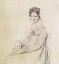 Ingres Madame Alexandre Lethiere born Rosa Meli and her daughter Letizia