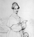 Ingres Madame Victor Baltard born Adeline Lequeux and her daughter Paule