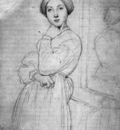 Ingres Study for Vicomtesse d Haussonville born Louise Albertine de Broglie