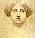 Ingres Study of Baronne James de Rothschild born Betty von Rothschild