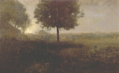 inness hazy morning, montclair, new jersey