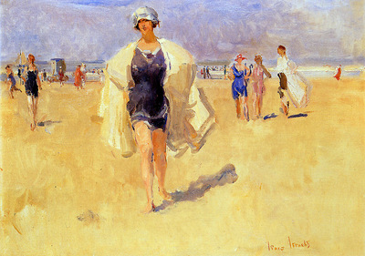Israel Isaac Lady on the beach of Viareggio Sun