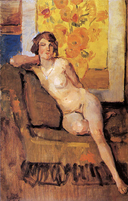 Israels Isaac Still life with nude Sun
