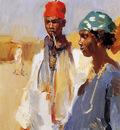 Israel Isaac Double portrait negroe heads Sun