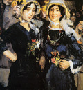 Israels Isaac Two women Chatherinettes Paris Sun