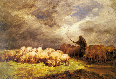 Jacque Charles Emile The Swineherd
