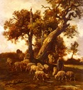 Jacque Charles Emile Sheep At Pasture