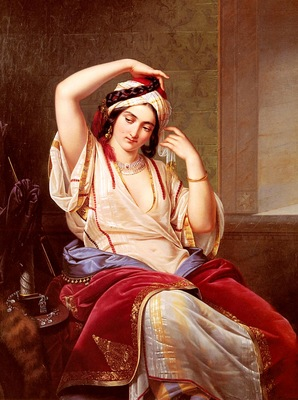 Jakobs Paul Emil A Harem Beauty At Her Toilette
