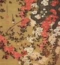 jakuchu wagtail and roses c1757