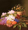Jensen Johan Laurentz Apple Blossoms Lilac Violas Cornflowers
