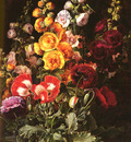 jensen johan laurentz danish 1800 to 1856 a still life of hollyhocks and poppies o c 83 8 by