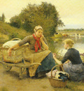 Jimenez y Aranda Luis WASHERWOMEN ON A RIVER BANK