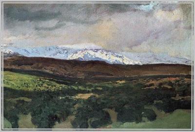 ls Sorolla 1907 El Guadarrama desde Angorilla