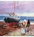 ls Sorolla 1907 Pescadoras en la playa de Valencia