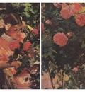 ls Sorolla 1907 Elena entre rosas