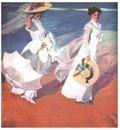 ls Sorolla 1909 Paseo a orillas del mar