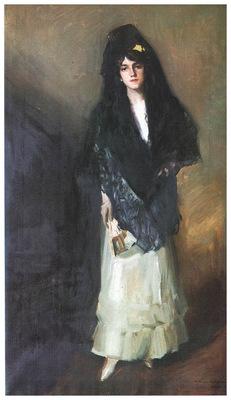 ls Sorolla 1910 Maria con mantilla