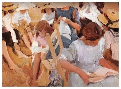 ls Sorolla 1910 Sobre la arena Playa de Zarauz