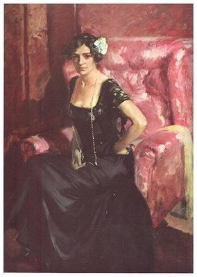 ls Sorolla 1911 Clotilde en traje de noche