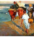 ls Sorolla 1916 Sacando la barca