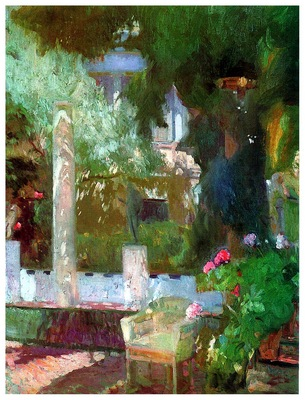 ls Sorolla 1920 Jardin de la casa Sorolla